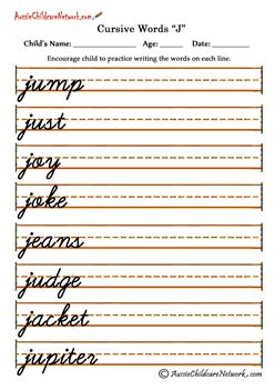 western australian handwriting worksheets search