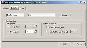 Create An Sql Server Database Using C