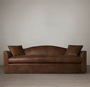 7 belgian camelback leather sofa