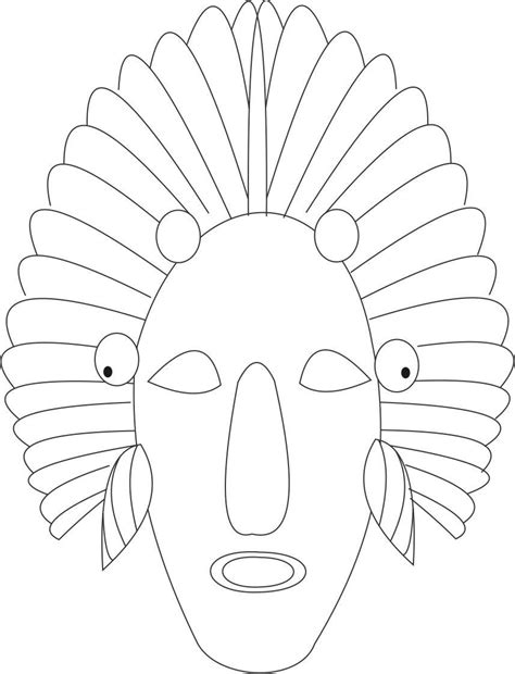 Indian Masks Coloring Pages Printable