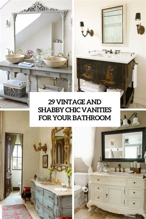 diy shabby chic bathroom vanity 29 vintage and shabby chic vanities for your bathroom digsdigs