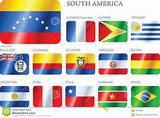Flags South America Set Of Buttons Royalty Free Stock