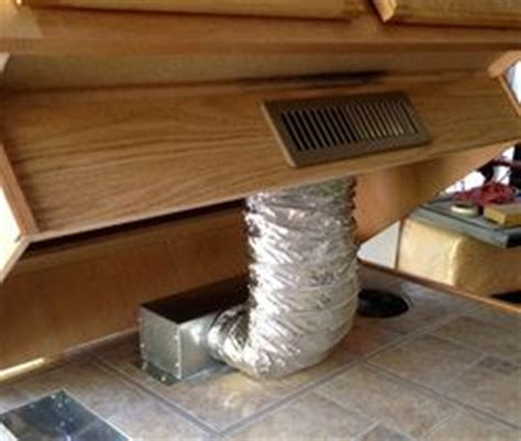 how to install toe kicks on kitchen cabinets toe kick ducting kit gets airflow out into the room and 9780