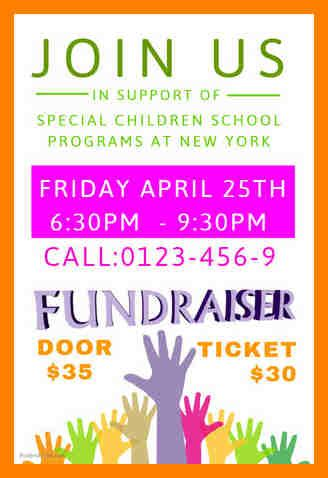 fundraiser flyer template free 7 fundraiser flyers template free fancy resume
