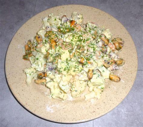 cuisiner des fruits de mer recette minceur fruits de mer avec crème et chou fleur
