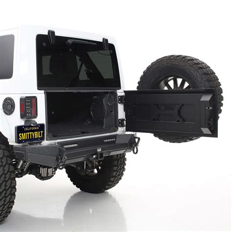 smittybilt 76410 xrc tailgate with tire carrier for 07 18