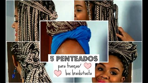 penteados faceis  trancasbox braidsrasta youtube