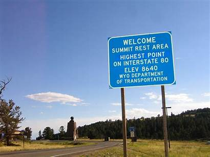 Wyoming Highway Summit Lincoln Highest Rest Point