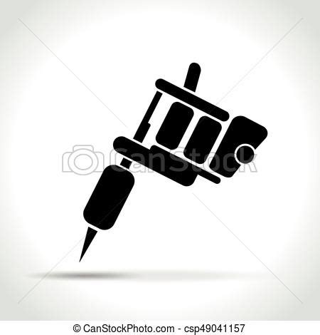 illustration  tattoo machine  white background