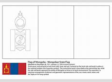 Ausmalbild Flagge der Mongolei Ausmalbilder kostenlos