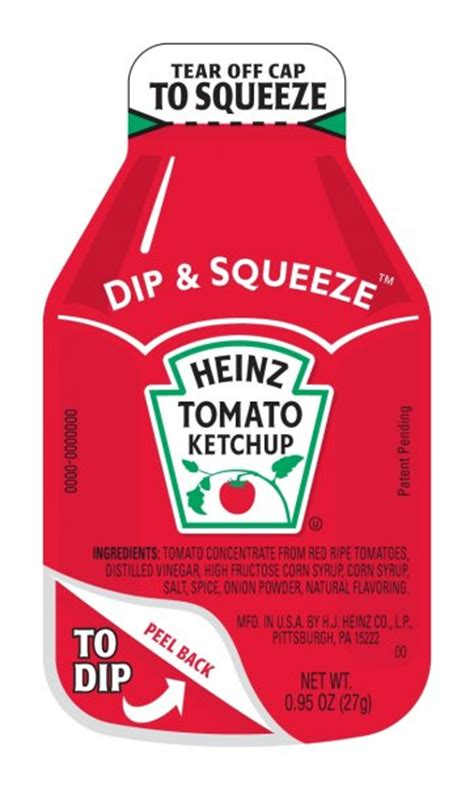 Heinz Dip & Squeeze Reinvents The Ketchup Packet