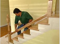 How to Install New Stair Treads and Railings howtos DIY