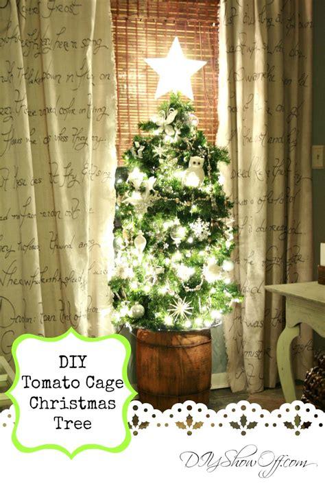 diy tomato cage christmas tree tutorialdiy show