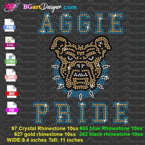 lllᐅNC A&T Aggie Pride bulldog Rhinestone - best football ...