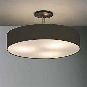 Disco zen semi flush ceiling pendant black andy thornton