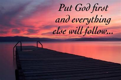 God Put Everything Christian Quotes Follow Else