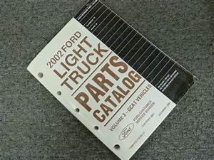2002 Ford Escape Suv Parts Catalog Manual Book Xls Xlt 4wd