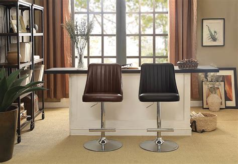 homelegance caleb airlift swivel adjustable stool