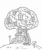 Bears Berenstain Coloring Treehouse Pages Printable Cartoon Supercoloring Categories Version sketch template