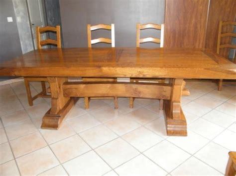 meuble cuisine occasion particulier table monastere 2m50 8 chaises chene massif meuble d