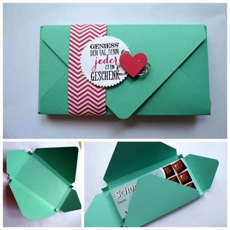 gutschein weihnachtlich verpacken anleitung f 252 r eine schokoladenverpackung mit dem envelope punch board keksdose
