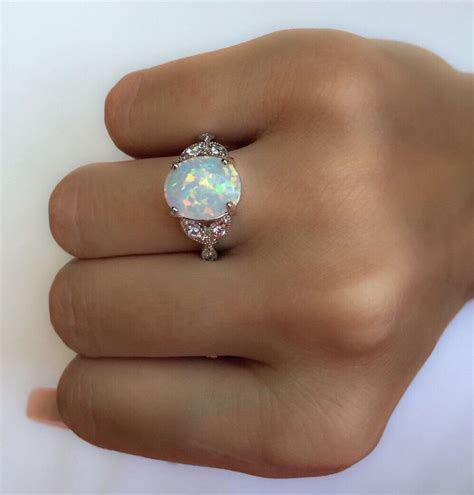 pin  leah riegel  mothers rings silver opal ring