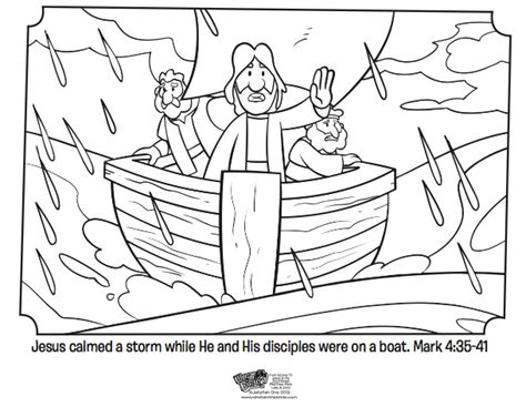 jesus calms  storm bible coloring pages whats