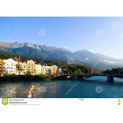 Innsbruck Old Town Inn River And Nordkette In The Morning