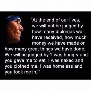 Helping Others - Mother Teresa quote | BE INSPIRED ...