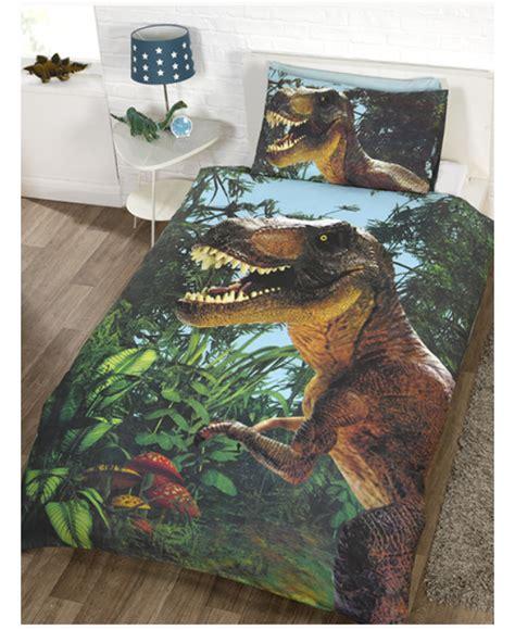 jurassic  rex dinosaur single duvet cover set bedroom