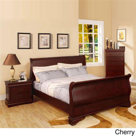 furniture  america bravo smooth transitional sleigh bed