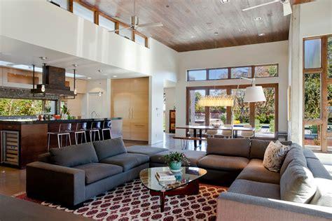 shaped sectional sofa family room modern  bar stool