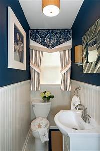 Small Powder Room Makeover AFTER - Transitional - Powder