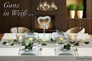 Deko In Weiß : tischdeko box hochzeit als set ganz in wei f r 8 10 personen 38 teilig creatina ~ Yasmunasinghe.com Haus und Dekorationen