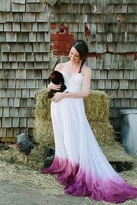 11 dip dye bridal gowns that will give you weddingenvy With where can i get my wedding dress dyed
