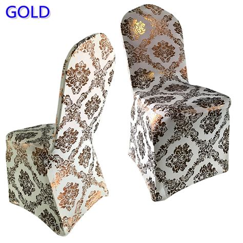 gold colour print chair cover pattern lycra chair cover