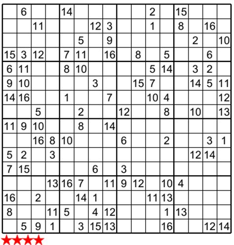 sudoku 16x16 free