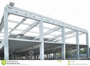 Concrete Beams Joint And Steel Construction Stock Photo ...