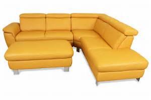 Ecksofa Mit Rundecke : leder rundecke mit hocker gelb sofas zum halben preis ~ Indierocktalk.com Haus und Dekorationen