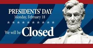 Presidents' Day - Monday, February 18th - Citizens Bank ...