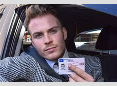 Man's driving licence issued with photo of him from