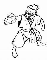 Karate Kid Coloring Spear Kidsplaycolor Colour sketch template