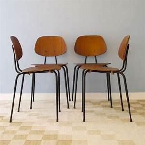 Chaise Bois Vintage : chaises scandinaves vintage bois metal ~ Teatrodelosmanantiales.com Idées de Décoration