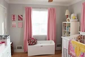 Rideau Rose Et Gris : chambre b b fille en gris et rose 27 belles id es partager ~ Teatrodelosmanantiales.com Idées de Décoration