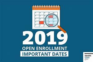 Open Enrollment for 2019 Marketplace coverage is a few ...