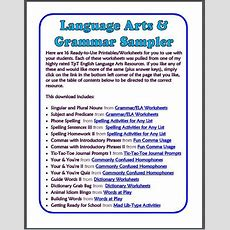 16 Free Language Arts Printables!  Middle School, Mentor Sentences And Sentence Starters