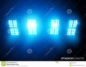 Stadium lights floodlights stock vector image