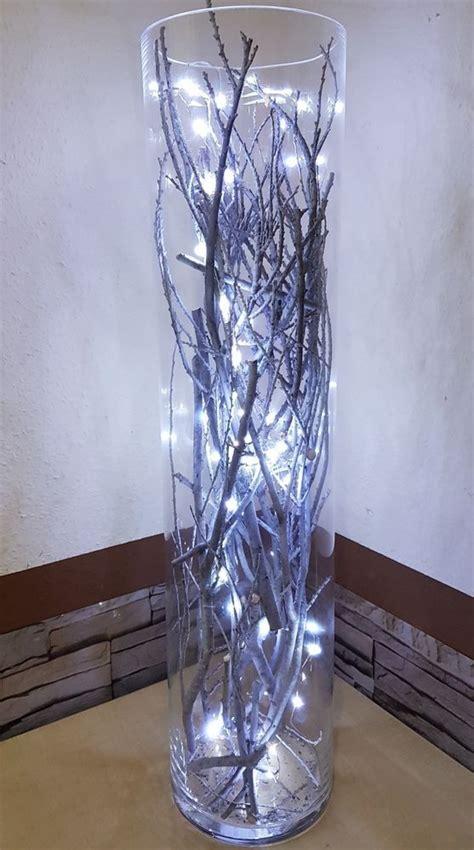 Lichterkette In Vase by Hohe Vase Dekorieren Dekorationen Aus Holz Dekorationen