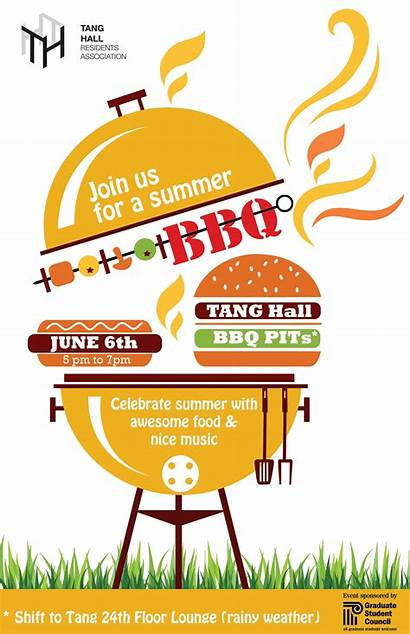 Summer Clipart Bbq Barbecue Social End Flyer