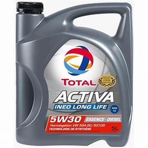Huile Long Life Vw : huile moteur total activa ineo long life 5w30 essence et ~ Melissatoandfro.com Idées de Décoration